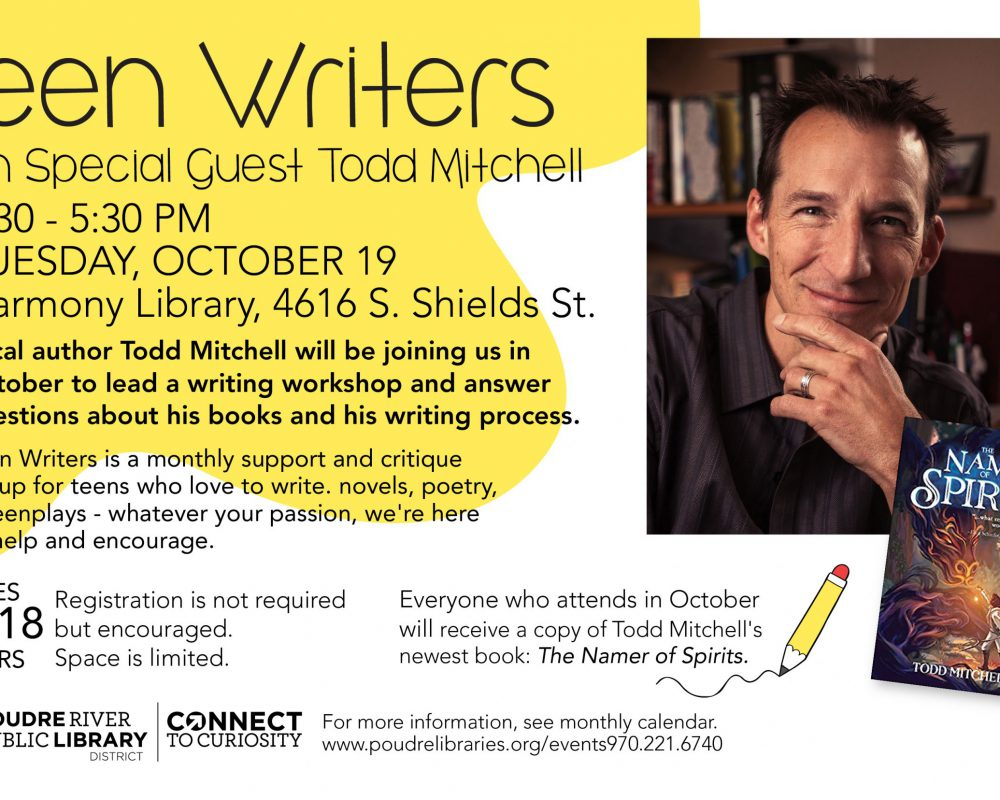 Teen Writers with Special Guest Todd Mitchell